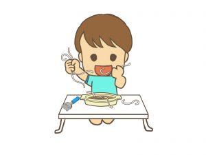子供の食べこぼし